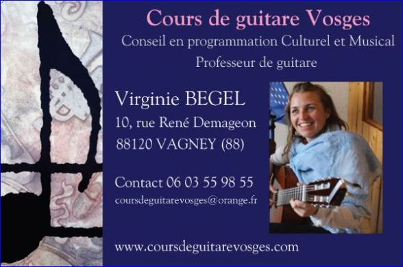 Carte web Professeur de guitare
