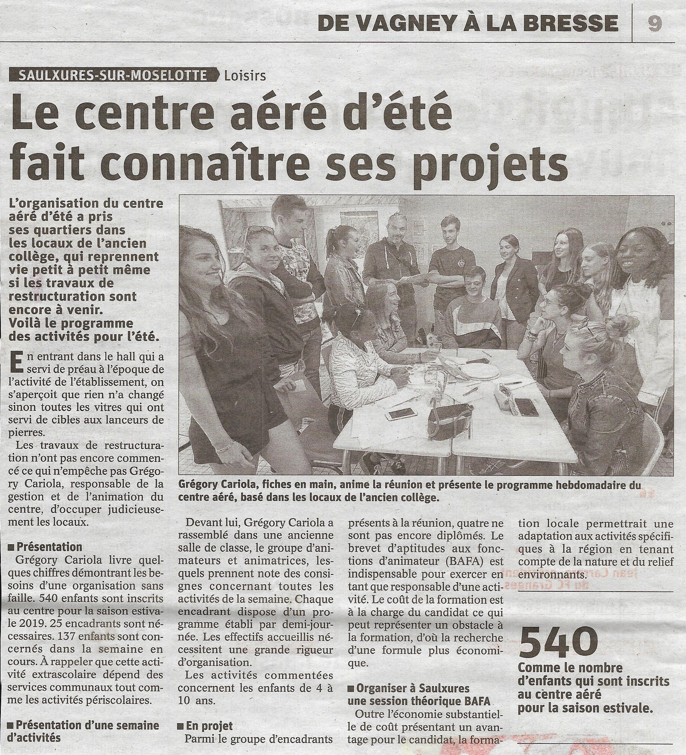 Article Vosges Matin Lundi 22 juillet 2019 001