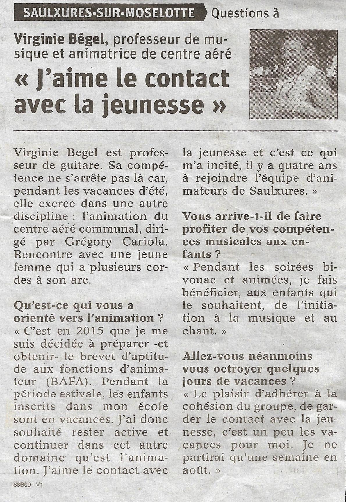Article Vosges Matin vendredi 03 août 2019 001